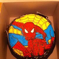 Frozen buttercream transfer Spiderman
