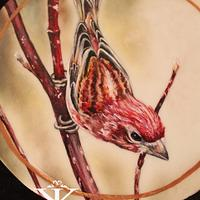 Handpainted bird