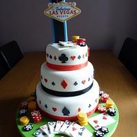 Las Vegas 21st Birthday Cake