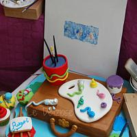 a cake for a painter