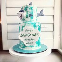 Jawsome Shark Cake