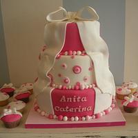 Bow Christening cake