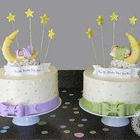 Gender Reveal Cake for Twins!