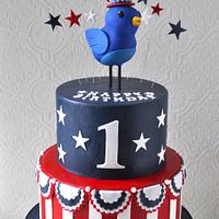 Patriotic 1st Birthday Cake