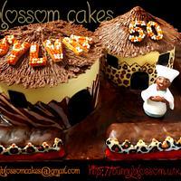African hut cake