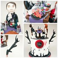 Hannibal TV Series 2013 Cake