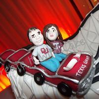 Texas Giant Roller Coaster Groom's Cake