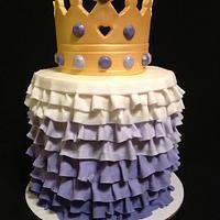 Purple Ombre Crown Smash Cake