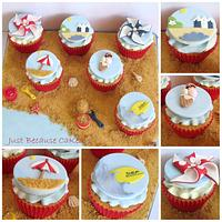 Summer Time at the Seaside Cupcakes