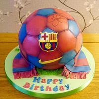 Barcelona Football cake