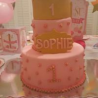 Nieces 1st birthday cake