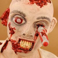 The Walking Dead Zombie Cake by Little Cherry