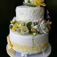 Yellow flowers cake by Tatyana Cakes