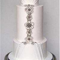 Jewelled wedding cake