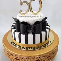 2 tier fondant cake for 50th birthday