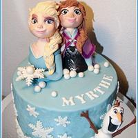 Anna and Elsa Cake / Frozen cake