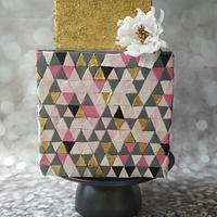 Geometric Art inspired cake