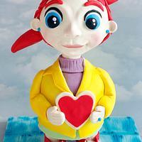 3D Valentine Girl cake