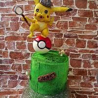 Detective Pikachu Cake  by Alhida (Date my Cake)