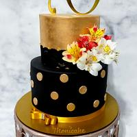 Cake flowers AND golden