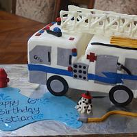 Fire Truck Boy Birthday cake