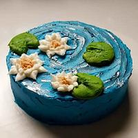 Water lily cake by Marguerite's Custom Cakes