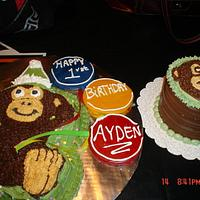 Monkey Cake with smash cake