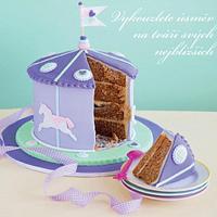 Caramel mudcake caroussel cake