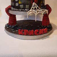 Spiderman cake