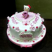 Hello Kitty flower birthday