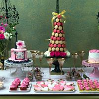 PDCA Caker Buddies Dessert Table Collaboration  : PINK & GOLD P🗼RIS