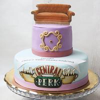 F-R-I-E-N-D-S cake