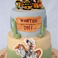 Lucky Luke and the Daltons Cake