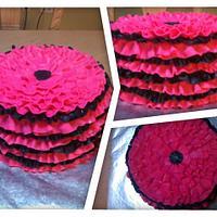 Ruffle Skirt cake