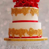 Red roses and Gold