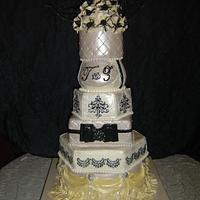 Mixed Shape Wedding Cake by Katarina