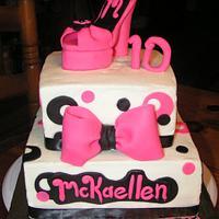 Hot pink platform shoe