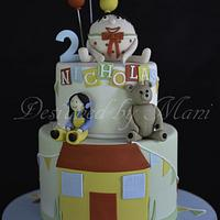 """play school""themed birthday cake"