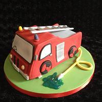 Fire engine cake