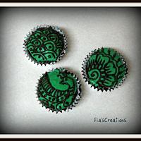 Mehndi / Henna Cupcakes