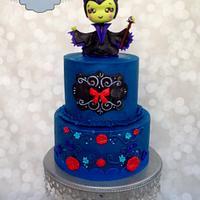 Cute Maleficent Cake