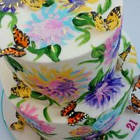 Hand-Painted Butterfly Garden