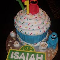 Sesame Street Giant Cupcake
