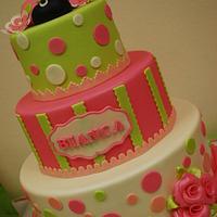 """Bianca's """"Oh So Sweet Ladybug"""" cake"""