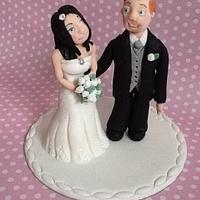 Bride and Groom topper by K Cakes