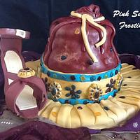 purse and high heel shoe by pink sugar frosting