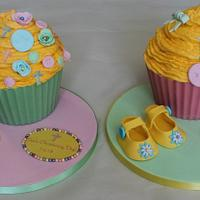 Colourful Christening giantcupcake no2 by Sue