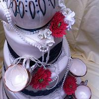my first designed wedding cake by homemade with love cakes and more