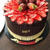 Strawberry Pocky Cake
