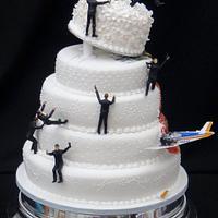 James Bond Themed Wedding Cake